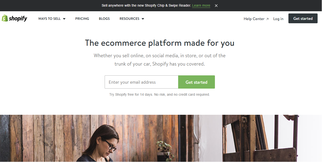 shopify website