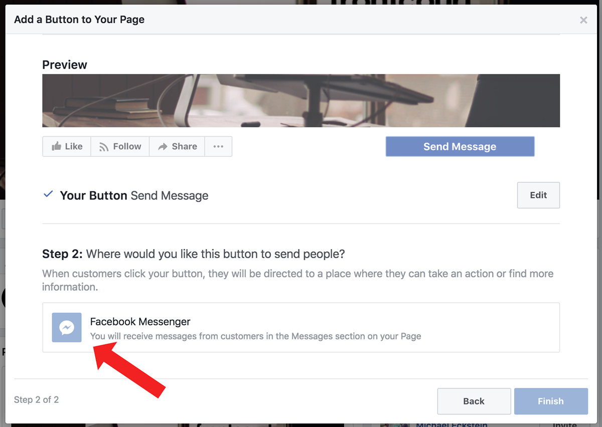 Screenshot showing facebook ads settings page