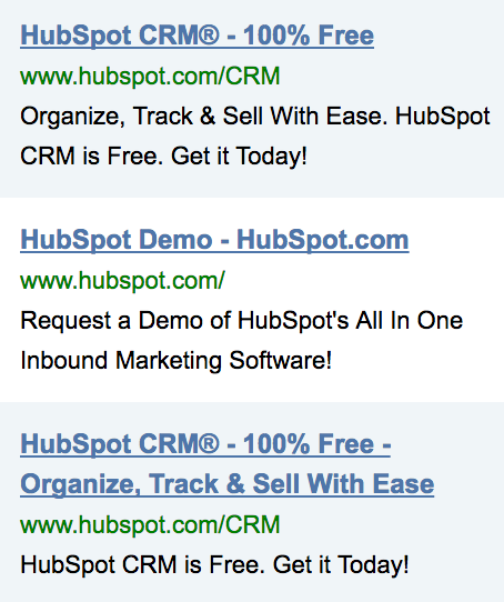 Screenshot showing ads by HubSpot