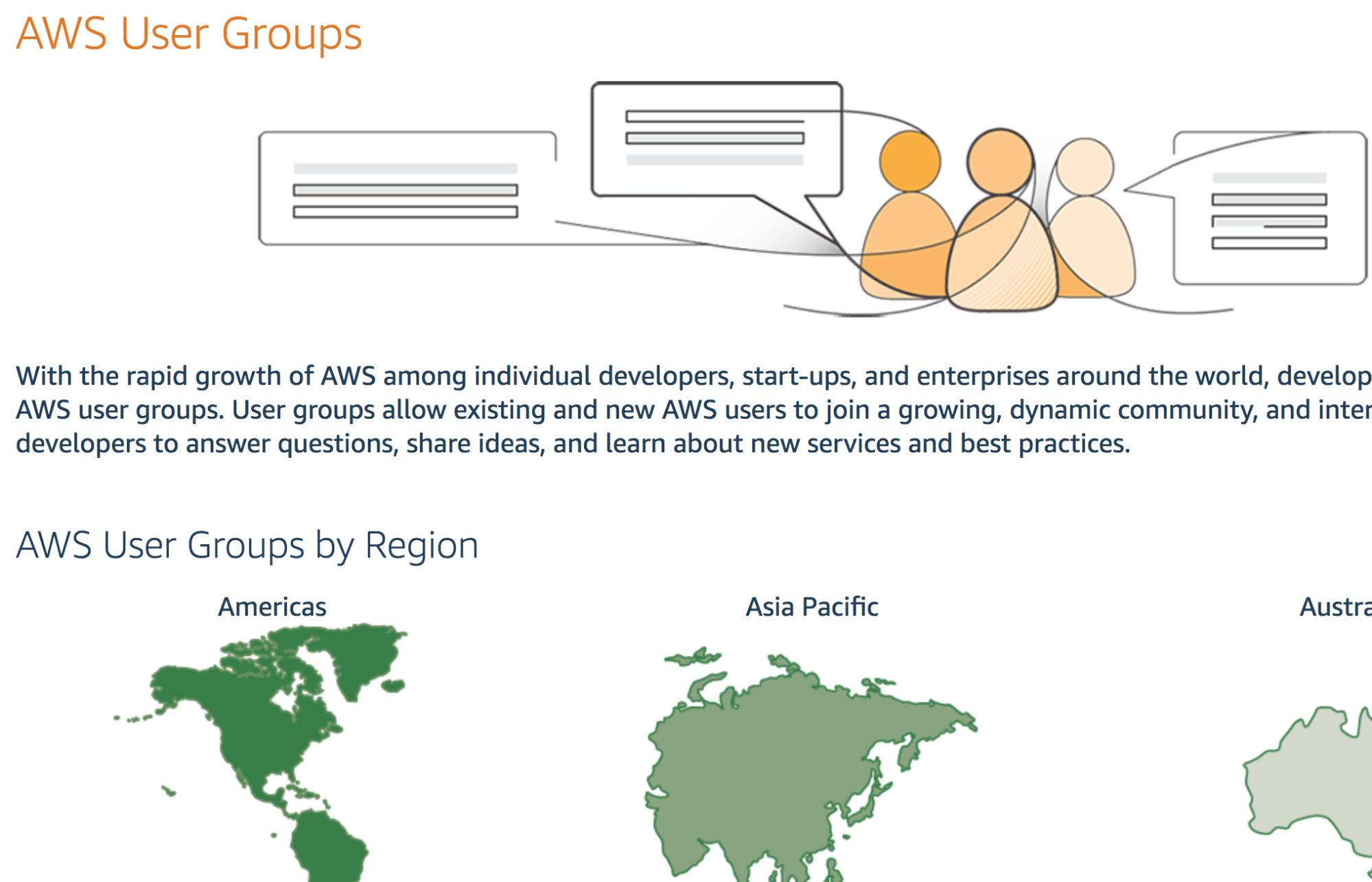 Screenshot showing AWS user groups information