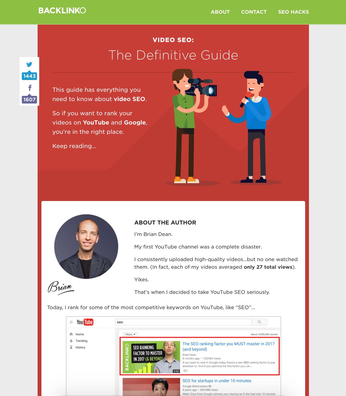 Screenshot showing a guide