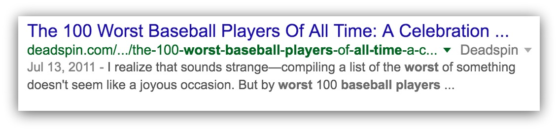 worst baseball players of all time