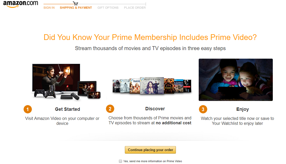 Screenshot showing information about amazon prime video