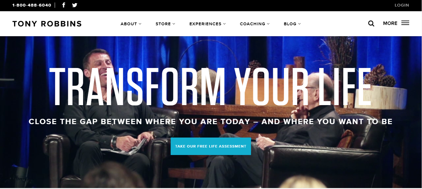 Screenshot of Tony Robbins
