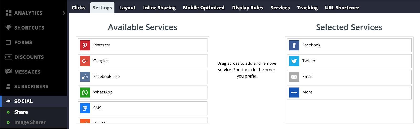 Screenshot showing Sumo settings in the Sumo dashboard