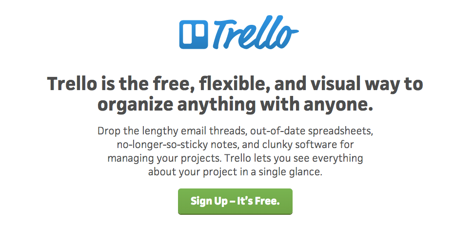 Trello value proposition example