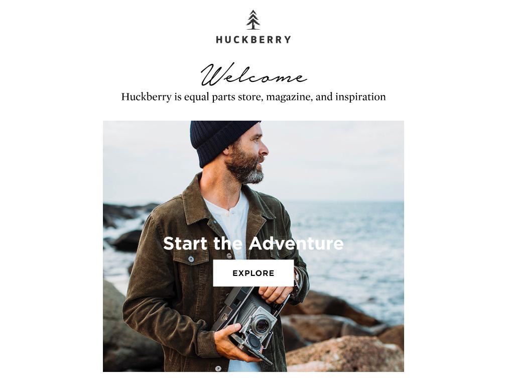 Screenshot showing Huckberry
