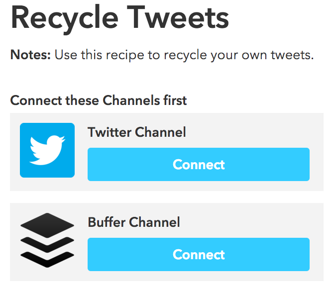 IFTTT recycle tweets