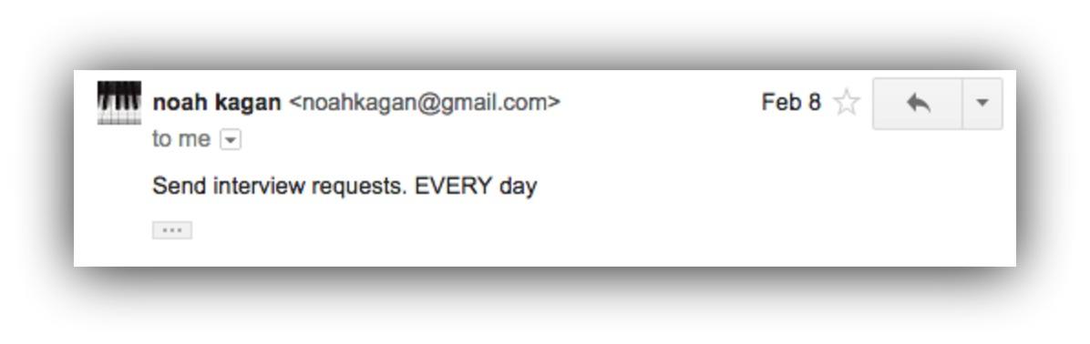 Screenshot showing an email by Noah Kagan