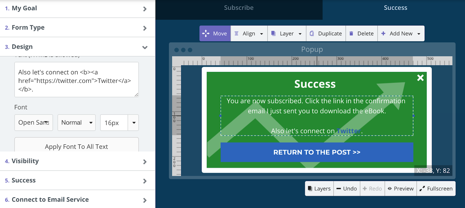 Screenshot showing the Sumo form creation page